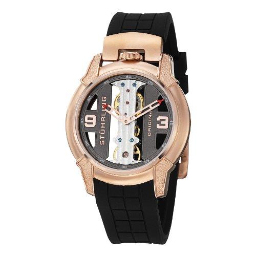 Stuhrling Original Men's 8259.334669 Leisure Gen-X Raptor Mechanical Skeleton Rose Tone Watch