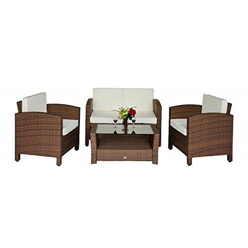 Outsunny Polyrattan Gartenmöbel 14 tlg. Rattan Gartenset Lounge Sitzgruppe Sofa Set inklusive Kissen, Schutzhülle optional erhältlich (14 tlg. Rattan Gartenset) online bestellen