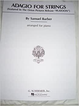 Barber adagio for strings piano sheet