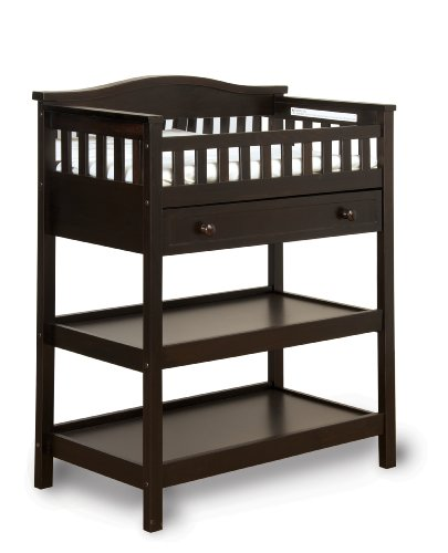 Child Craft Watterson Dressing Table with Mirror and Drawer, Jamocha - 1