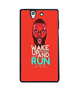 Fuson 2D Printed Quotes Designer back case cover for Sony Xperia Z - D4404