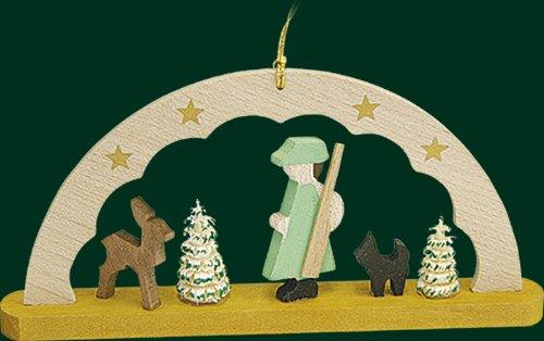 Christbaumschmuck Schwibbogen mit Förster Baumbehang Weihnachtsbaum 4,5cm Erzgebirge NEU