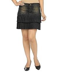 Ursense Women Skirts (ZIPL8002A_Light Tint_Red_34)