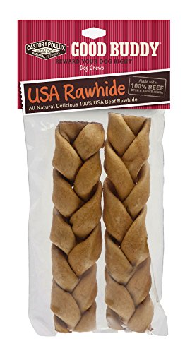 Good Buddy USA Rawhide Braided Sticks for Dogs, 7 to 8-Inch (Medical Goods compare prices)