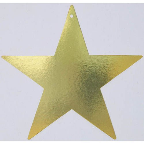 "Amscan Elegant Bulk Foil Star Party Cutouts, 9"", Gold"