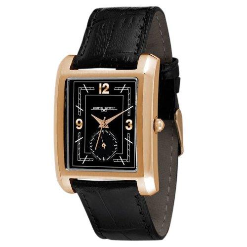 Jorg Gray JG1940-16 - Reloj analógico de cuarzo unisex con correa de piel, color negro