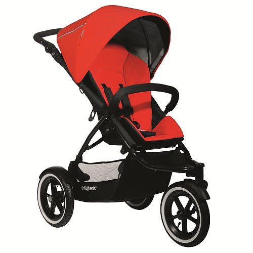 Phil & Teds 2012 Navigator Inline Buggy Stroller - Cherry front-984826