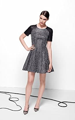 Full Skirted Tweed Dress