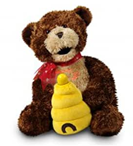 "Cuddle Barn ""Hunny"" Animated Musical Singing Bear Doll With LED Message Fan: Dances And Sings ""Sugar, Sugar"""