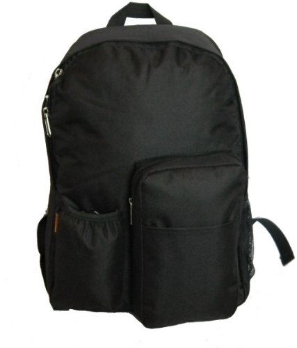 """17"""" Backpack W/Water Bottler Holder, 17""""X12.5""""X5.5"""" Black. [30 Pieces] *** Product Description: Material: 600D Polyester Dimension: 17""""X12.5""""X5.5"""" Case Pack: 30Pcs Colors Available: Black, Red, Navy, Hot Pink Features: *Large Roomy Main Compartme ***"""