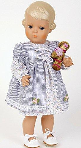 Schildkröt Puppen, Inge miblu, 41 cm, blond, blaue Glaskugelaugen, limitiert auf 3000 Stück weltweit