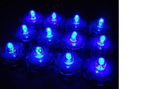 Submersible Led Decor Tea Light * Wedding Or Events * (Pack Of 10) - Blue