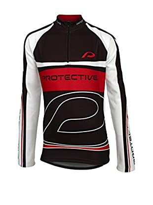 PROTECTIVE Maillot Ciclismo Matthew Ls Kids (Negro / Rojo / Blanco)