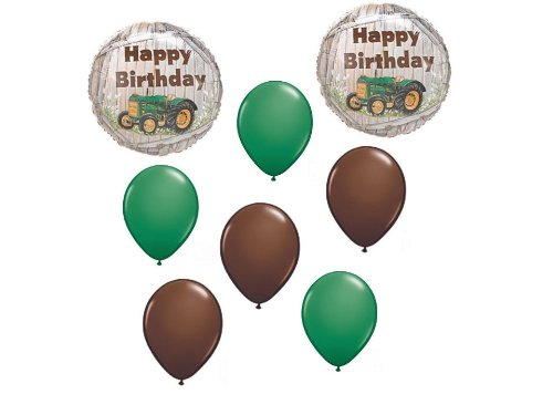 John Deere Tractor Balloons Party Supplies 8 Piece Kit