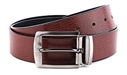 WildHide Men's Leather Belt (LTBLT002--40, Brown, 40)