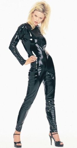 Costumes For All Occasions Ua902Bkmd Kittysuit Leatherlike Blk Med