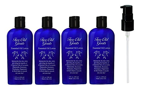 Two Old Goats Essential Lotion for Your Toughest Aches & Pains, 8 oz, 4 Piece with pump - 1