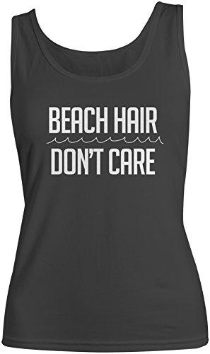 Beach Hair Don't Care Donna Tank Top Canotta Nero Small