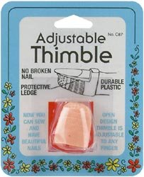 Best Buy! Bulk Buy: Dritz Plastic Thimble Adjustable C87 (6-Pack)