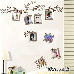 Bird Flower Photo Frame Living Room Sofa Bedroom Corridor Wall Decal Stickers front-488316