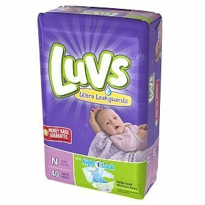 Luvs Newborn Ultra Leakguard Super Absorbent Diapers 40 Count front-22229