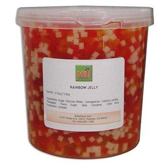 Bubble Boba Tea Rainbow Jelly, 7.3 Lbs (3.3kg) JAR (Rainbow Jelly compare prices)