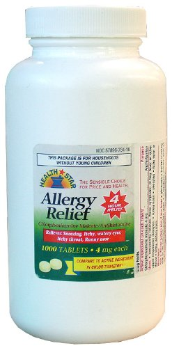 Health Star - Allergy Relief 4mg (1000 Tabs)