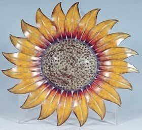 Metal decorative 14 sunflower wall plaque for Plaque murale decorative metal