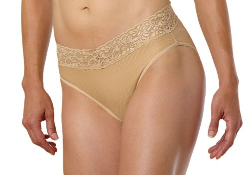 ExOfficio Women's Give-N-Go Lacy Bikini Brief Nude XL 2-Pack