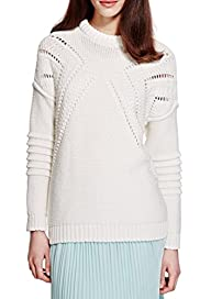 Open Knit Diamond Jumper [T69-2929J-S]