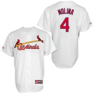 Yadier Molina St. Louis Cardinals White Toddler Home Replica Jersey by Majestic