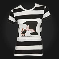 Guinness Black White Stripe Lady Ladies Tee