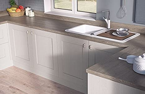 Egger Contemporary Truffle Riverside Oak Effect Kitchen Bathroom Laminate Worktop Offcut Work Surface 40mm Breakfast Bar - 3m x 670mm x 38mm Breakfast Bar