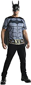 Rubie's Costume Men's Batman Arkham City Adult Batman Top, Multicolor, Large