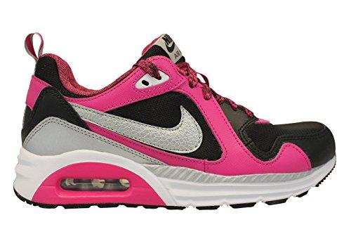 Nike Air Max Trax (Gs), Mädchen Sneakers, Mehrfarbig (Black/Metallic Silver-White-Vivid Pink), 36.5 EU (4 Kinder UK)