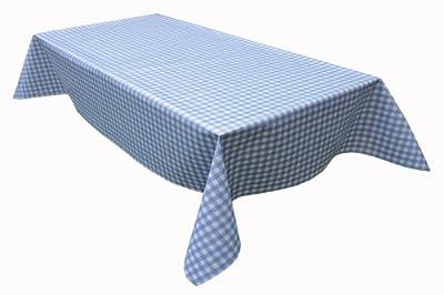 Wachstuch Tischdecke Wachstischdecke Gartentischdecke, Abwaschbar Meterware, Länge wählbar,Klein Kariert Blau Weiß (112-01) von MODERNO bei Gartenmöbel von Du und Dein Garten