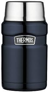 Thermos en acier inoxydable roi alimentaire Flacon - Bleu de Minuit (710 ml)