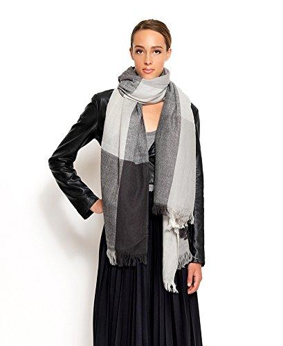 Nali -  Sciarpa  - A quadri - Donna grigio grigio