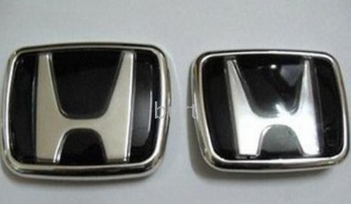 Black Honda Badge Emblem Front & Rear (Honda Civic Civic Emblem compare prices)