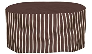 Budge P5A20MB2 72in. Long Oval/Rectangular Table Cover with 20in. Drop