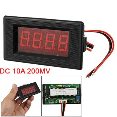 Rectangle Lcd Red Led Display Dc10A 200Mv Volt Ampmeter