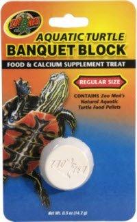 "Brand New Zoo Med Bb-50 Aquatic Turtle Banquet Block Regular ""Reptile - Turtles"""