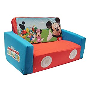 Amazon Com Disney Mickey Mouse Flip Open Slumber Sofa