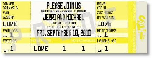 Please Join Us Rehearsal Dinner Ticket Invitations