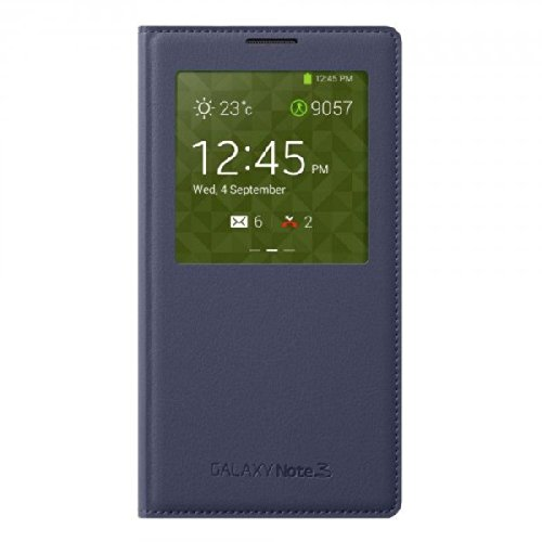 Original Oem Samsung Galaxy Note 3 S View Cover - Indigo Blue