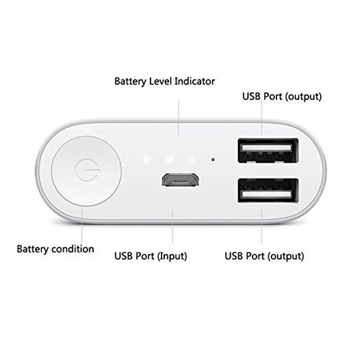 MKSD® 100% Original XIAOMI 16000mah Universal Battery Charger Power Bank for Iphone 6 5 5s 4s 4 3gs Ipod Ipad Samsung Galaxy S5 S4 S3 S2 Note HTC for Iphone 6,iphone 6 Plus,iphone 5, 5s, 5c, 4s, 4, Ipad Air, 4, 3, 2, Mini 2 (Apple Adapters Not Included); Samsung Galaxy S6 S5, S4, S3, S2, Note 3, Note 2; HTC One, Evo, Thunderbolt, Incredible, Droid Dna, Motorola Atrix, Droid, Moto X, Google Glass, Nexus 4, Nexus 5, Nexus 7, Nokia Nexus 10, Lg Optimus, Gaming Ps Vita, Gopro, Smart Watch , Tablets, Cellphones Etc (Silver)