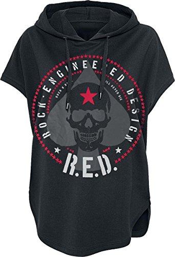 R.E.D. by EMP Spade Skull Maglia donna nero XL