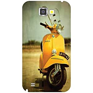 Samsung Galaxy Note 2 N7100 Scooter Matte Finish Phone Cover