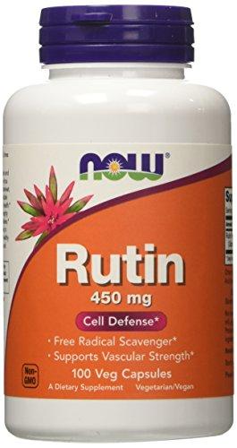 Now Foods Rutin 450mg, Veg-Capsules, 100-Count