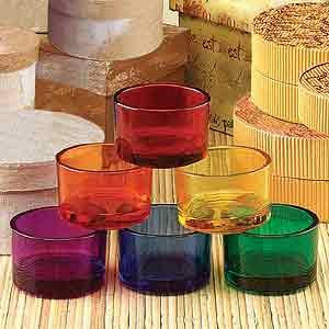 StealStreet Rainbow Candelabra Votive Colorful Small Tealight Candle Holder, Set of 12